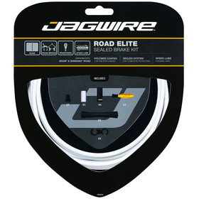 Jagwire Road Elite Rem binnenkabel- & Behuizing sealed kit wit